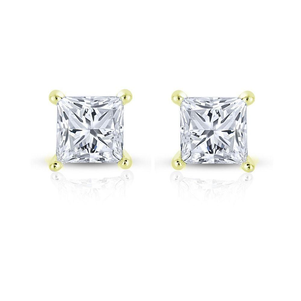 0.25ct 14k Yellow Gold TDW Diamond Stud Earrings