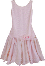Isobella & Chloe - Big Girls DARLING DEMURE_Drop Waist Sleeveless Dress
