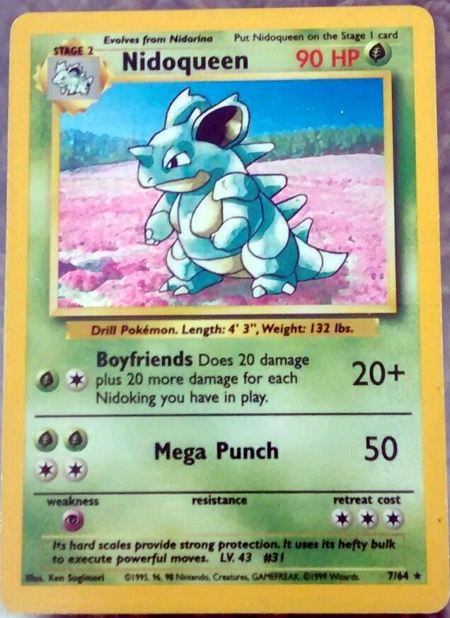Nidoqueen Rare Jungle Set Holo Pokemon Card FAST & FREE P&P! 7/64