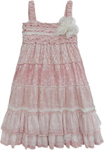 Isobella & Chloe - Big Girls VANILLA CHAI_Empire Waist Dress