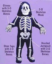 Skeleton with 3D Bones Child Costume 3T