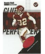 Dante Hall Topps Pristine 2004 #CP-DH Clutch Performer Jersey Kansas City Chiefs - $3.25
