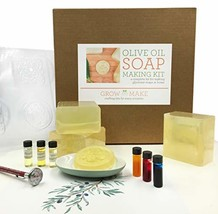 Grow and Make Deluxe DIY Olive Oil Soap Making Kit - Learn how to make h... - $63.93