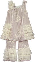 Isobella & Chloe - Baby Girl CRÈME BRULEE Two Piece Pant Set image 2