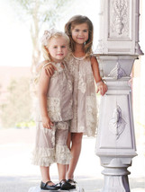 Isobella & Chloe - Baby Girl CRÈME BRULEE Two Piece Pant Set image 3