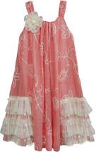 Isobella & Chloe - Little Girls CRÈME BRULEE Lace Ruffles Panel Dress image 1