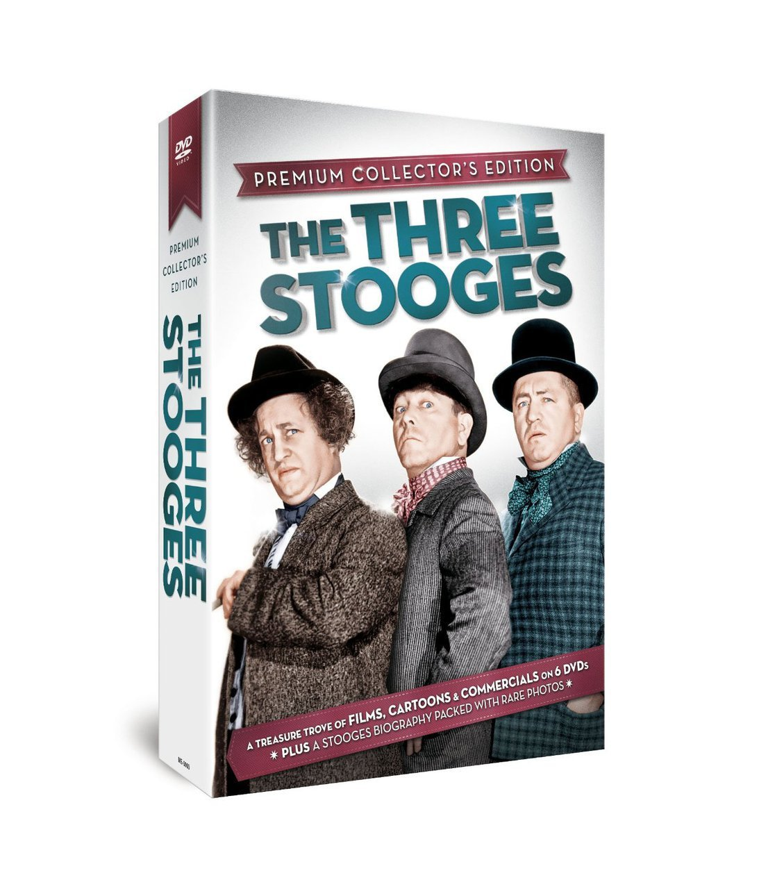 The three stooges   premium collector s edition   6 dvds plus hardcover book