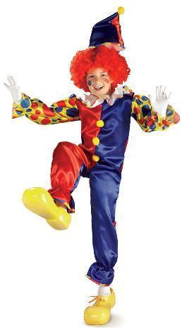 BUBBLES THE CLOWN CHILD'S COSTUME SZ LG 12/14