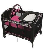 Pink Pack N Play Baby Playard, Baby Play Yard With Reversible Napper & B... - $132.98