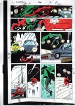 Original 1992 Daredevil 302 page 13 Marvel Comics color guide art: Owl/1... - $99.50