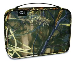 Camo Bible Cover Large Zippered With Handle Marsh Grass Camouflage New  - $19.79