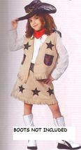 COWGIRL WITH HAT COSTUME SZ 8/10 - $35.00