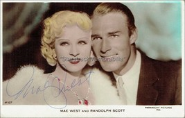 Mae West Autograph *I'm No Angel * Hand Signed 5x3 Vintage Photocard - $120.00