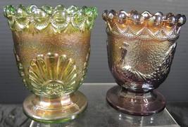 2 Westmoreland Carnival Glass Sugars - Struttin... - $28.49