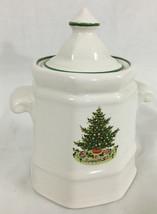 Christmas Heritage by Pfaltzgraff Christmas Tree Sugar Dish and Lid 4 Inch 2-22 - $14.99