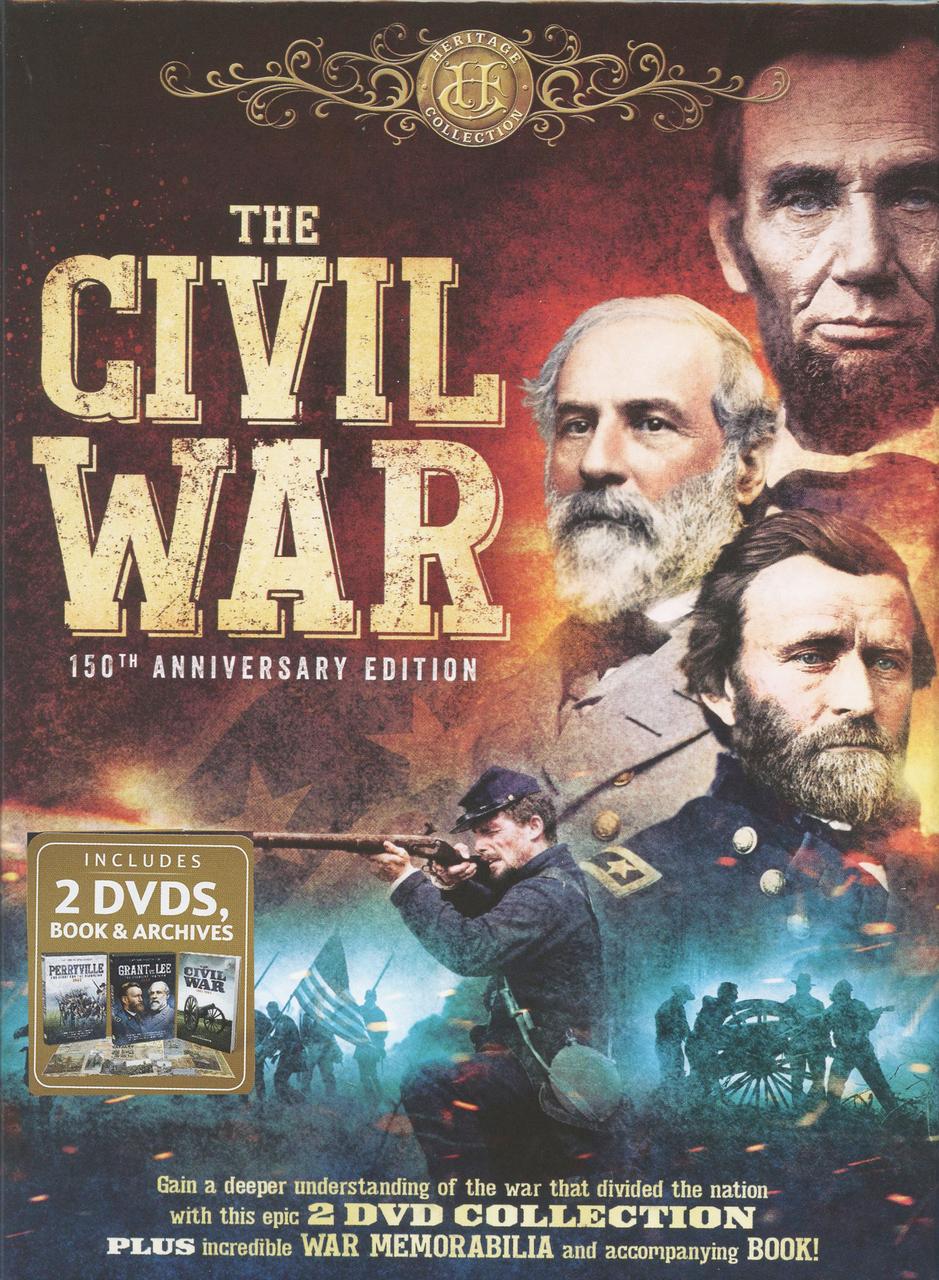 The civil war   150th anniversary edition   2 dvd collection plus war memorabilia