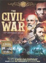 THE CIVIL WAR - 150TH ANNIVERSARY EDITION - 2 DVD COLLECTION plus WAR MEMORABILI
