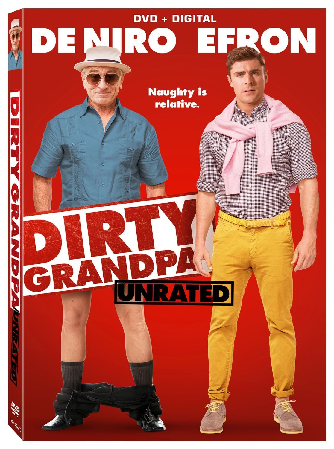 Dirty Grandpa (Unrated) [DVD + Digital] (2016) New
