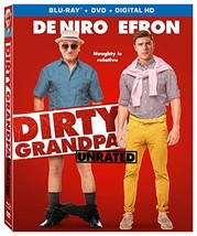 Dirty Grandpa (Unrated) [Blu-ray + DVD + Digital HD] (2016) New - $12.95