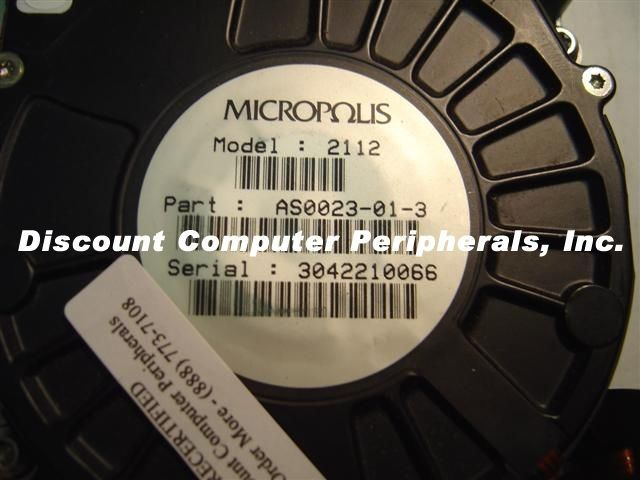 Micropolis 2112 1GB HH 3.5IN SCSI 50 PIN  Drive Tested Good Free USA Shipping