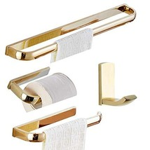 BATHSIR Brass Bathroom Hardware Set Gold 4pcs,Set of 4 Includes Towel Ba... - $67.64