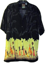 Pineapple Connection Mens Island Tropics Button Down Shirt Size M - $24.99