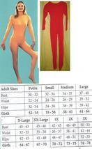 ADULT UNITARD LADIES XLG FULL BODY SUIT RED LADIES XLG - $60.00