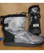 UGG Australia Black MINI BAILEY BOW SNAKE Boots Size US 9, EU 40 NIB # 1005537 - $120.22