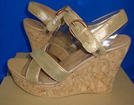 UGG Australia JAZMINE Metallic Chestnut Gold Wedge Sandals Size 9 NIB #1008355 - $55.71