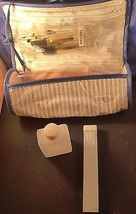 Vintage Ann Taylor Cosmetic Case Travel Makeup Bag Toiletries Brushes NWT - $14.01