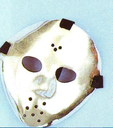 JASON HOCKEY STYLE PLASTIC SILVER PLATED FACE MASK