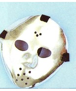 JASON HOCKEY STYLE PLASTIC SILVER PLATED FACE MASK - $5.00