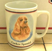 Coffee Mug Cup Cocker Spaniel Dog Ceramic - $9.50