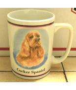 Coffee Mug Cup Cocker Spaniel Dog Ceramic - $9.50