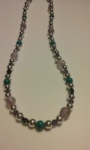 Handmade Genuine Natural Faceted Amethyst & Blue Jasper Mixed Necklace  - $14.99