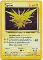 Zapdos 15 holo rare fossil unlimited