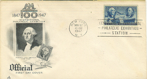 International Philatelic Exhibition FDC 1947 Cachet Single May 17, 1947