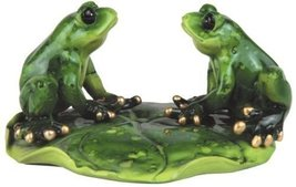 4.25 Inch Male and Female Frog Couples on A Gre... - $22.00