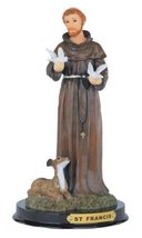 9 Inch Saint Francis Holy Figurine Religious Decoration Statue Decor - $25.99