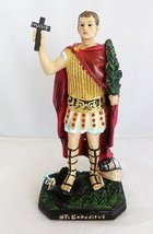 12 Inch San Expedito Saint Expeditus Statue Figurine Religion Collectible Rome - $41.99