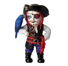 "6"" Cosplay Kids Pirate Captain w/ Parakeet Gothic Decor Statue Figurine ... - $29.99"