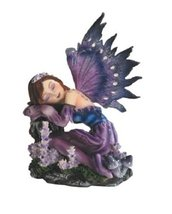 "4"" Inch Purple Sleeping Fairy Statue Figurine Figure Fairies Magic Mytho... - $28.99"