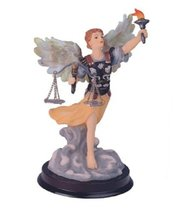 "6"" Inch Archangel Uriel Statue Figurine Figure Religious San Saint Angel - $17.02"