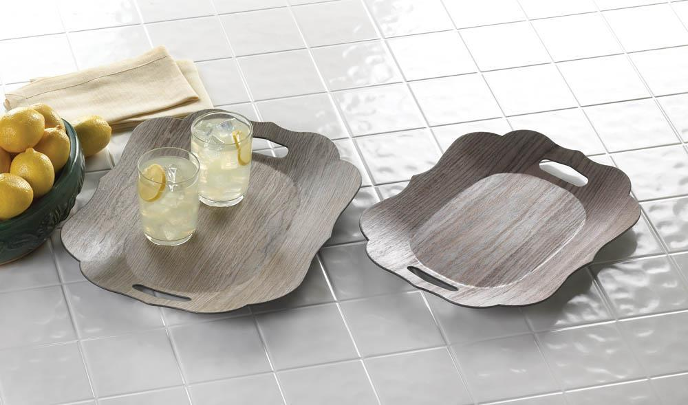 Scallop Edge Display Trays