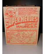 1976 Lakeside's Super Heroes Light Up Drawing Desk - $50.00