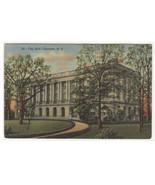 City Hall Charlotte North Carolina 1947 linen postcard - $5.94