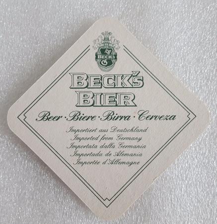 Coaster Becks Bier Beer Germany One Mat Vintage 80s