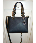 NWT $268 MICHAEL KORS Cynthia Cross Hatch LEATH... - $152.78