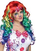Fun World Unisex-Adult's Rainbow Curlz Wig, Multi, Standard - $22.02