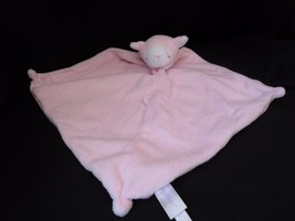 Angel Dear plush pink lamb baby sheep Security Blanket Lovey knotted sof... - $9.75